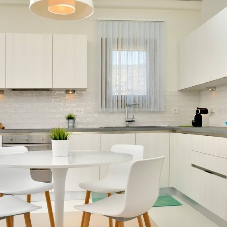 kitchen and small dining table