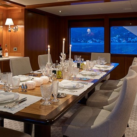Ancallia Yacht dining area