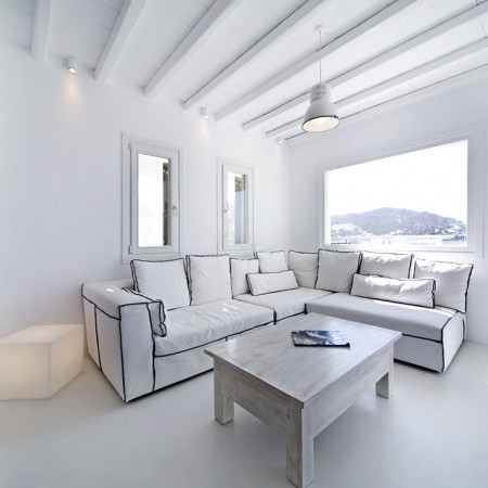 white living area