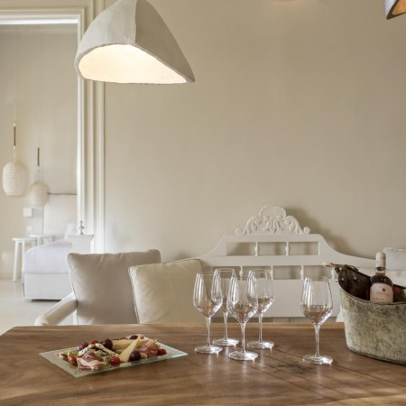 Dining table indoors