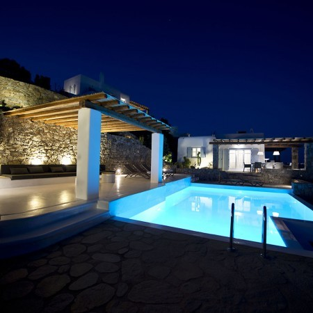 Villa Candice at night