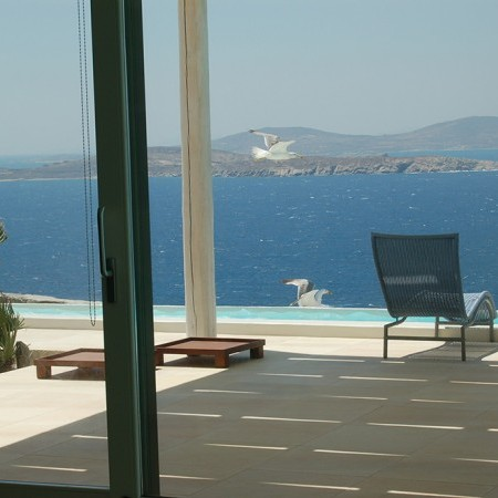 sea view inside from the villa