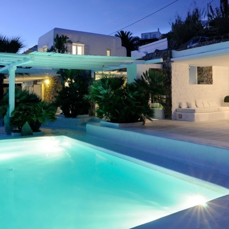 Mykonos Luxury Villa Magia at night
