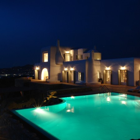 Secret of Mykonos at night