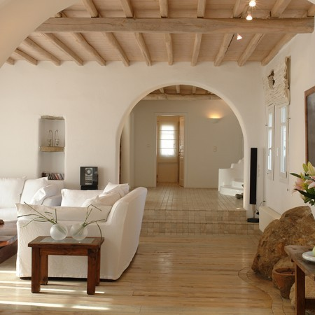 villa secret of Mykonos main living room