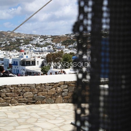 view from Mykonos Windmill