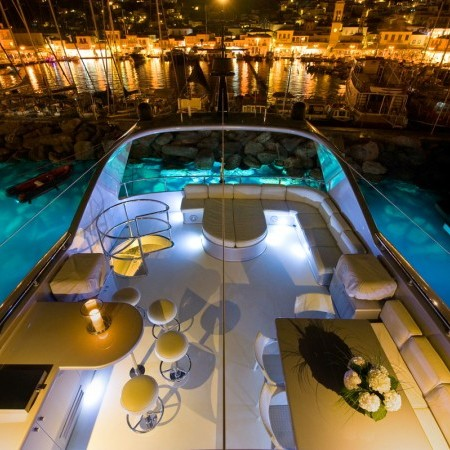 Pandion yacht night