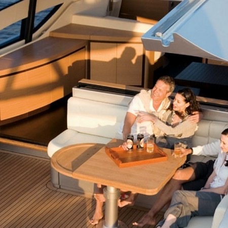 pershing 72 deck area