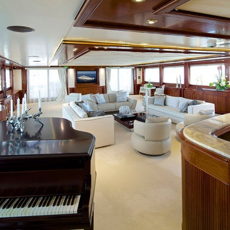 Omega main salon yacht