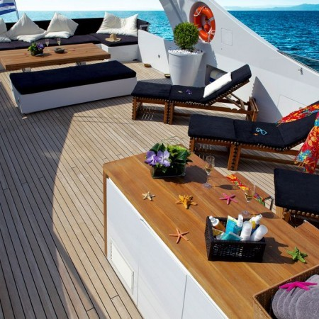 Tropicana super yacht deck