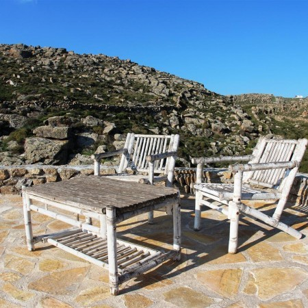 mykonos villa outdoor lounge