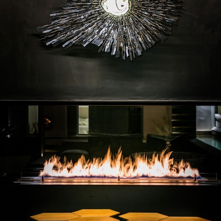 fireplace closeup photo
