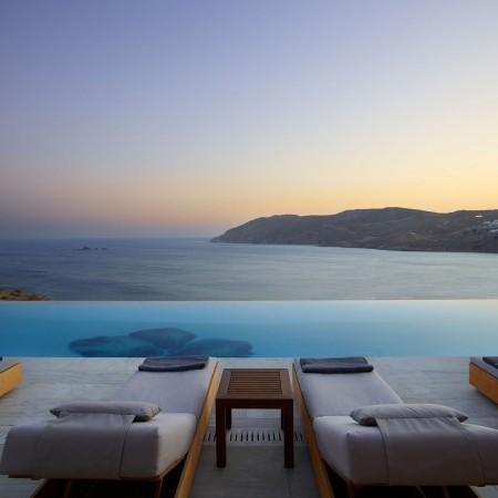 mykonos luxury villa with 18 bedrooms