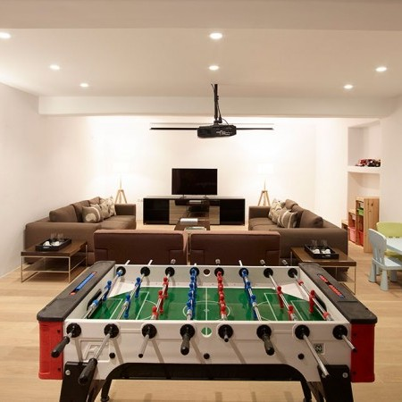 play room with table soccer