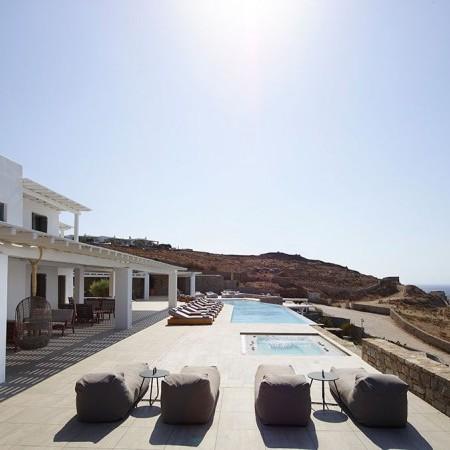 sun loungers at exterior area