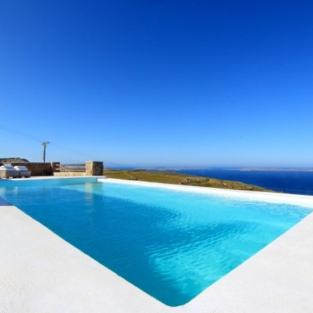 the swimming pool of the house