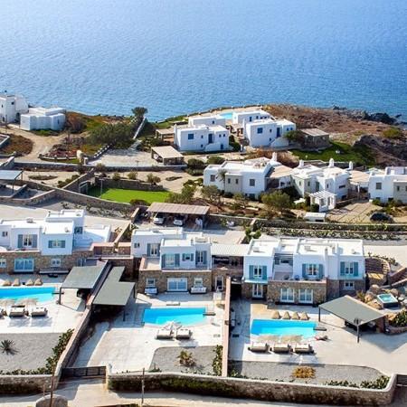 aerial photo of the villas