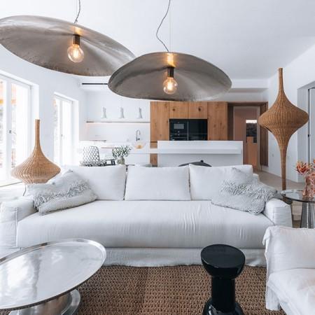 villa Beauregard Mykonos living room