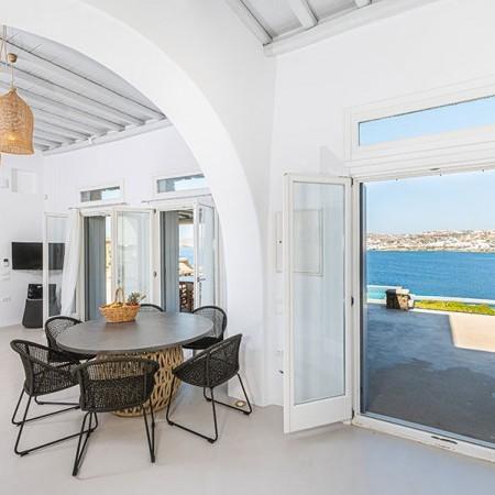 mykonos villa with sea view