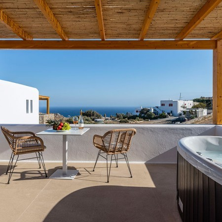 balcony veranda with sea view