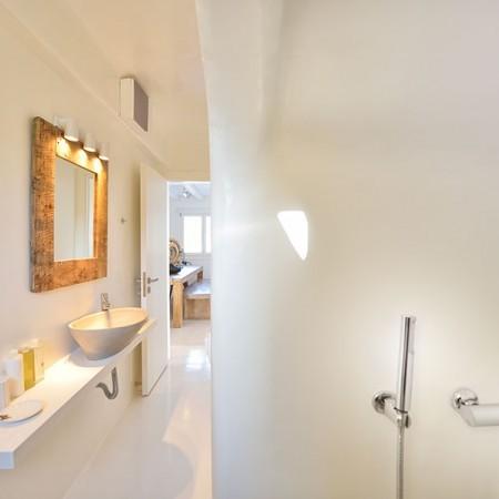 bathroom and built shower