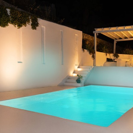 villa The Cloud Mykonos during night time
