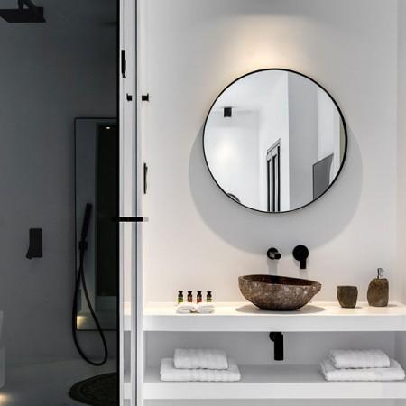 bathroom mirror detail