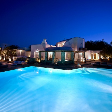villa Sanja at night