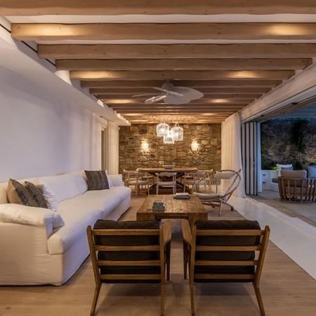interior living room at night