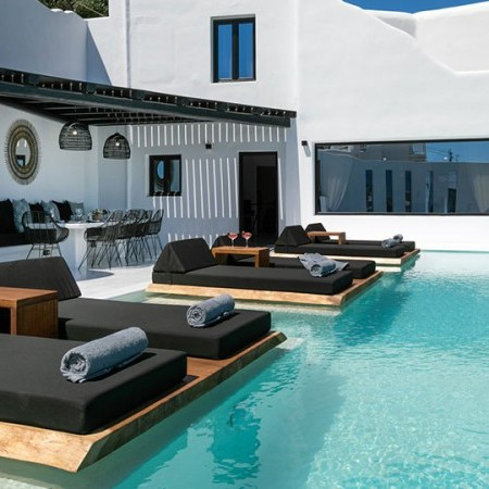 villa at psarou beach Mykonos