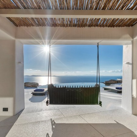 exterior swing with sea view