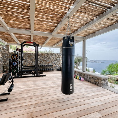 private gym at the property