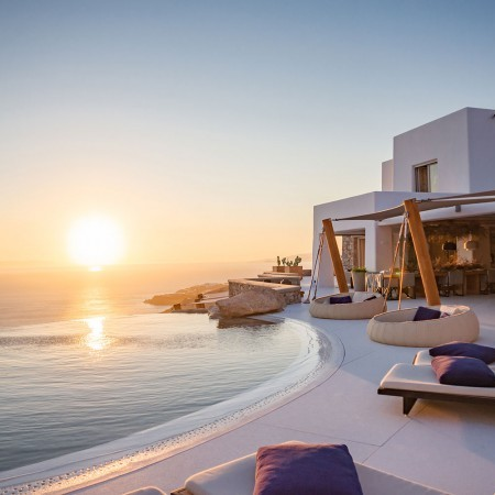 sunset view from villa Mozart