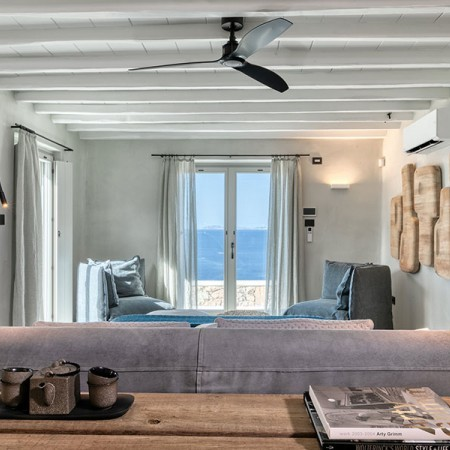 bed room with view