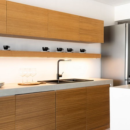 house's fully equipped kitchen