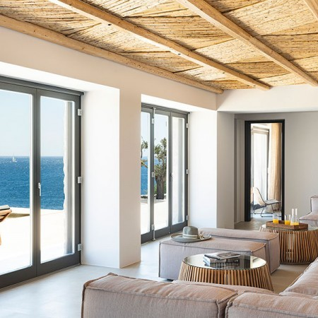 sea view from indoor living area