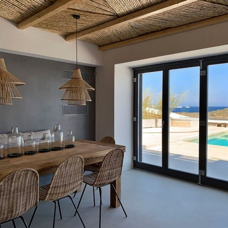 indoor dining area with view