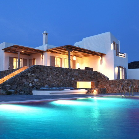villa elzi mykonos night