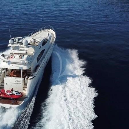 Noe yacht aerial view