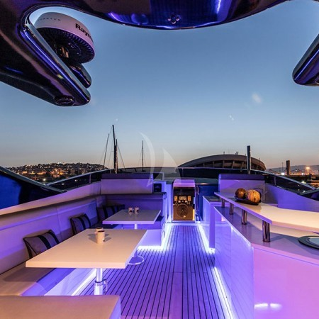lounge area of deck at night