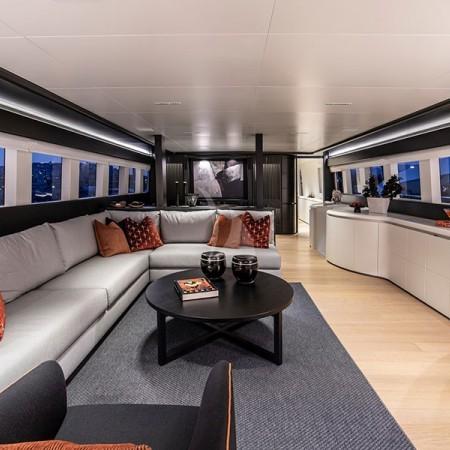 main living room inside the boat