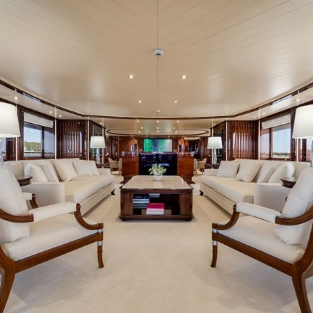 interior of the boat
