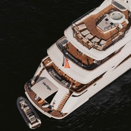 Vertigo Yacht aerial shot