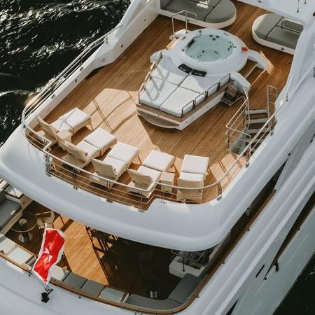 Vertigo Yacht aerial shot of deck