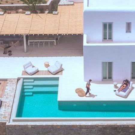 mykonos villa close to Ornos beach