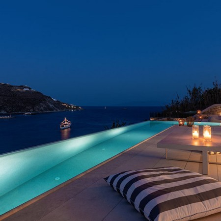 villa Dea at night Mykonos