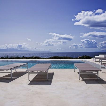 pool area at villa Rica in Mykonos