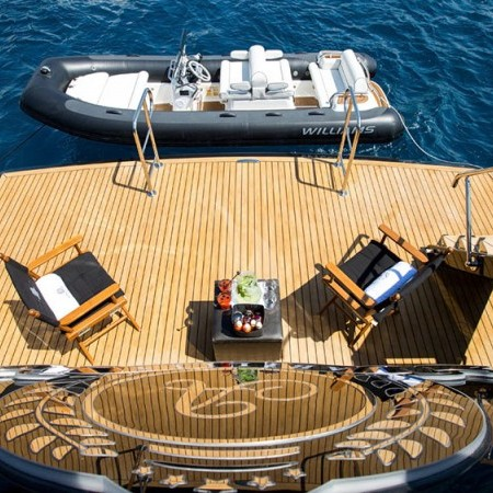 swimming platform of the yacht