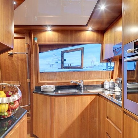 Aimilia yacht kitchen
