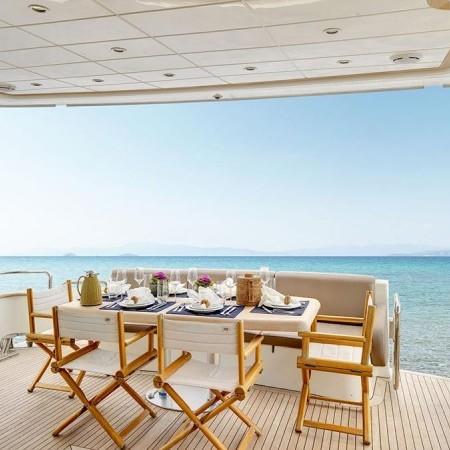 Aimilia yacht deck